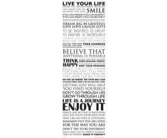 1art1 Motivazione - Vivi La Tua Vita, Sorridi Midi Poster (91 x 30cm)