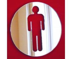 Super Cool Creations Specchio Rotondo per WC Maschio, 40 cm x 40 cm
