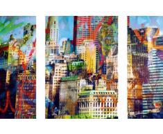 Euro Graphics DP DOM1001 DecoPrint, Stickers murali, adesivi, 3 pezzi, Città Nuova, 50 x 70 cm