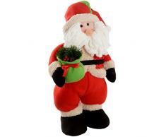 WeRChristmas - Decorazione natalizia a forma di Babbo Natale con sacca dei regali, con luci LED, 43 cm