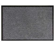 Andiamo 700625 - Zerbino cattura sporco, tinta unita, grigio, 60 x 90 cm