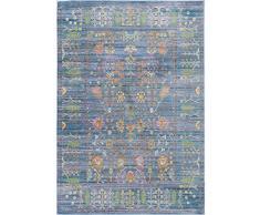 benuta Teppich Visconti Blau 160x230 cm Tappeto, Fibra Sintetica, Blu, 160 x 230 cm
