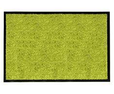 Andiamo 700625 - Zerbino cattura sporco, tinta unita, verde, 80 x 120 cm