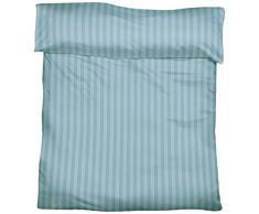 Fleuresse, 703139, Federa per cuscino a righe, con chiusura a busta TB 25, Blu (bleu), 80 x 80 cm
