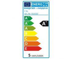 SLV, Lampadina LED per lampade da esterni, 5.0 Watt, A+, 400 lumen, E27, 3000 kelvin