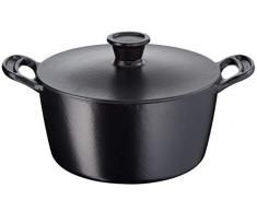 Tefal Jamie Oliver by Cast Iron Stewpot 24cm Pentola da 24 cm, 4.7 Litri, Ghisa, Nero