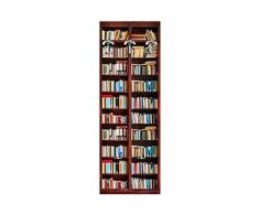 Lupia 181951 Appendiabiti da Parete 49X139 cm Libreria, Legno, Multicolore, 49x6x139 cm