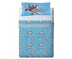 Disney Planes Heroes Set di lenzuola da 3 pezzi letto 105 blu