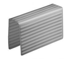 InterDesign Lineo Tappetino Divisore Lavandino, Plastica, grigio, 21x5.5x12 cm