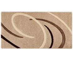 VIMODA - Tappeto dal Design Moderno, Beige, 60 x 110 cm
