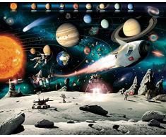Walltastic Avventura Spaziale Carta da Parati Murale, Multicolore, 52.5x7x18 cm
