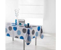 Douceur d Interno Tovaglia Rettangolare, Poliestere, Blu, 240Â x 150Â cm