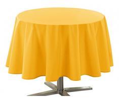 Douceur dIntérieur Essentiel - Tovaglia rotonda in poliestere, colore: Rosso, Poliestere, giallo, 180 cm
