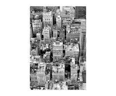 Komar - Poster da Parete con Immagine di Roof, Disponibile in 3 Misure, Nero, Bianco, Grigio, P125-50x70