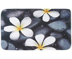 WENKO 20950100 Tappetino bagno Bloom - scendibagno , Poliestere, Multicolore