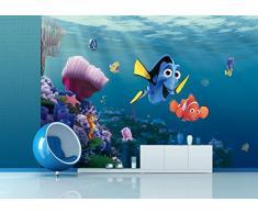 AG Design - Photo Wall Mural - Carta Bambini Disney - Disney Nemo - Foto Sfondo - Poster Gigante con Parete - 360 x 254 cm - 4 Parti - FTD 2223