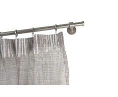 InCasa Bastone per Tende Ø 20 mm, L. 280 cm. in Acciaio Satinato - Completo