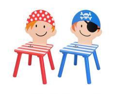 Set di 2 bambini sedie pirata