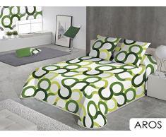 Sabanalia - Copriletto timbrato Aros (disponibile in varie dimensioni) - Letto 135, Verde