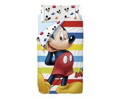 Disney Topolino Colors - Copripiumino e federa per letto singolo da 90 cm