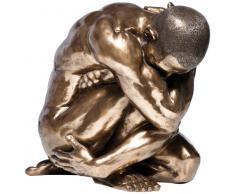 KARE Designs - Statuetta Decorativa Raffigurante Un Uomo Nudo in Un Abbraccio, 54 cm, Colore: Bronzo