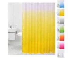 Sanilo D032582 tenda da doccia, molti monocolore a scelta, anti-muffa-effetto, tessuto, giallo, 180 x 200 cm