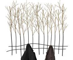 KARE Appendiabiti da Parete Bush, Nero, 82.5 x 9 x 89 cm
