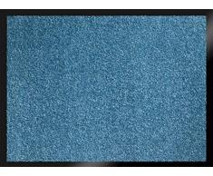 ID MAT 608005 Mirande - Tappeto zerbino in Fibre Nylon e PVC, gommato 80 x 60 x 0,9 cm, Turchese, 60 x 80 cm