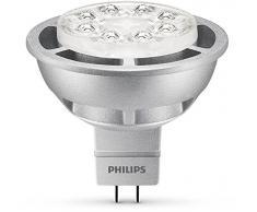 Philips Faretto LED 8 W GU5.3 dimmerabile (ricambio per faretto alogeno 50 W GU5.3 MR16), colore: bianco caldo, Sintetico, Silver, GU5.3, 8 wattsW 240 voltsV