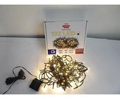 Giocoplast Natale 143 9933 Set di 192 LED per Esterno, Bianco Caldo