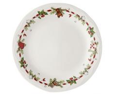 Hutschenreuther 02460-725492-10866 - Piatto piano con decorazioni natalizie, in confezione regalo, 26 cm
