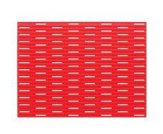 InterDesign Lineo Tappetino Lavandino, Plastica, Rosso, 40.75x31.75x40.75 cm