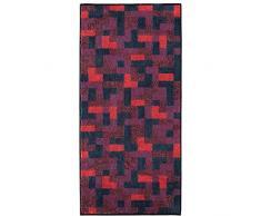 Möve Modernism - Asciugamano, 50 x 100 cm, Colore: Rosso