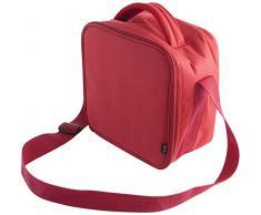 Quid - Go Lunch, Borsa termica porta-pranzo, incl. 2 contenitori, 22 x 13 x 22 cm, colore: Rosso