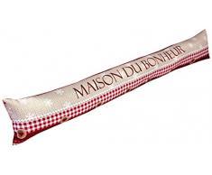 Nappes du Monde - Paraspifferi stampato per porta, motivo: Maison du Bonheur, in poliestere, 85Â x 15Â cm