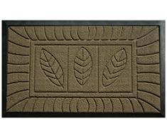 Tapis Deco - 1740046, Zerbino, motivo: Foglie, 75 x 45 cm, Marrone