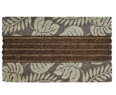 Jute & Co Zerbino Tessuto in Cocco Stampato con Bordo Antiscivolo, 45 x 75 cm
