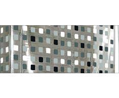 Kleine Wolke 3319110745 - Tenda da doccia avvolgibile ad angolo, 132 x 240 cm e 56 x 240 cm, grigio