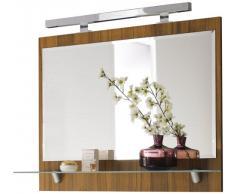 Posseik, Specchio a parete da bagno, Marrone (walnuss)