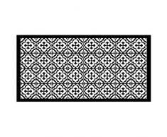 Tappeto rettangolare, Nero , 50 x 100 cm