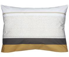 Blanc des Vosges 3UO Opéra - Federa per cuscino, in cotone stampato, percalle, Cannella, 50 x 73 cm