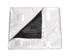 Soleil dOcre - Tovaglia, tessuto satinato, colore: Bianco/Nero
