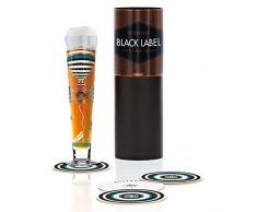RITZENHOFF Black Label Bicchiere da Birra, Multicolore, 6.5 cm