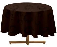 Cargoline Tovaglia rotonda in poliestere cioccolato 180 x 180 cm