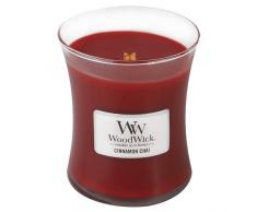 Woodwick 92104 Candela Media Cannella Chai, Cera, Rosso, 10x11 cm, 4 unità