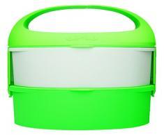 Outlook Design G. Lunch Borsetta Porta Pranzo con Due Contenitori, Adatti a Microonde e Frigo, ABS e Manico in Silicone, Verde