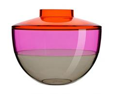 Kartell 122122 - Vaso Shibuya, Colore: Arancio/Vila/Fumé