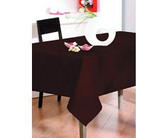 CALITEX - Tovaglia in taffetà , Quadrata, 140 x 140 cm, Colore: Cioccolato