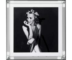 Kare 65201 - Quadro a specchio Hollywood Diva, 60 x 60 cm, taglia unica, colore: Nero