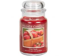 Village Candle 106326301 Crisp Apple Grande Vaso, Vetro, Rosso, 10.4 x 10.1 x 17.7 cm